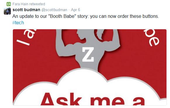 tweet 3 booth babe